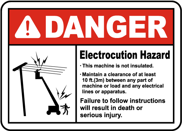 Maintain 10 Foot Clearance Sign
