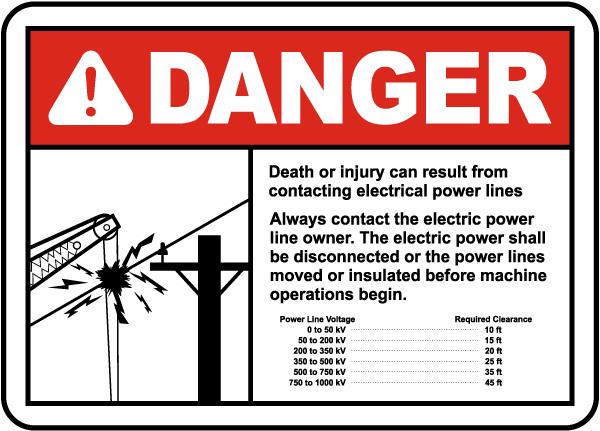 Contact Power Line Owner Sign