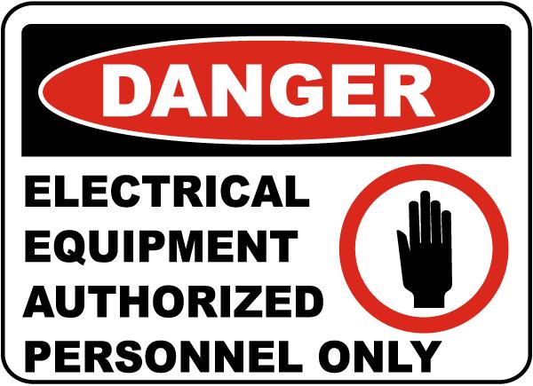 Danger Electrical Equipment Label