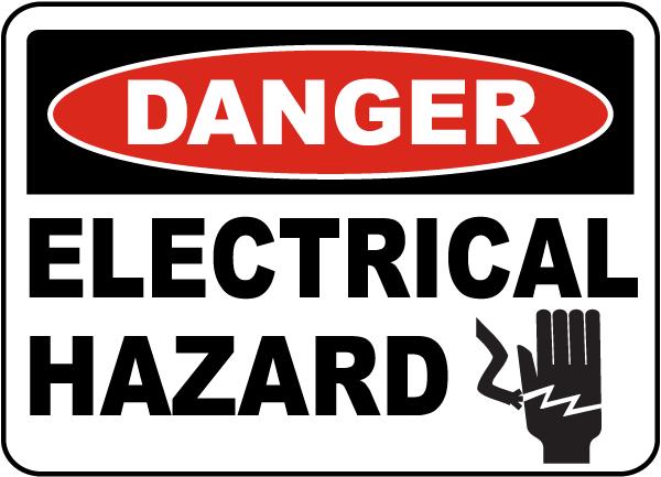 Danger Electrical Hazard Label