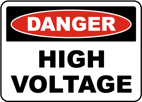 Danger High Voltage Label