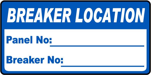 Breaker Location Label