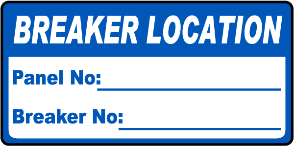 Breaker Location Label