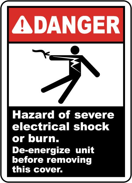 Hazard of Electrical Shock or Burn Label