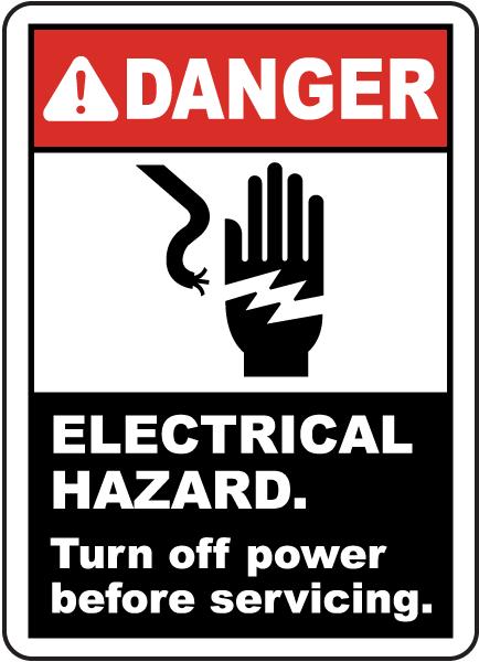 Electrical Hazard Turn Off Power Label