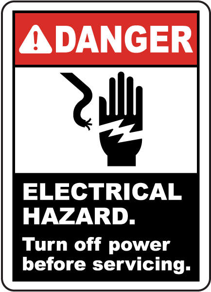 Electrical Hazard Turn Off Power Sign