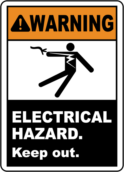 Electrical Hazard Keep Out Label