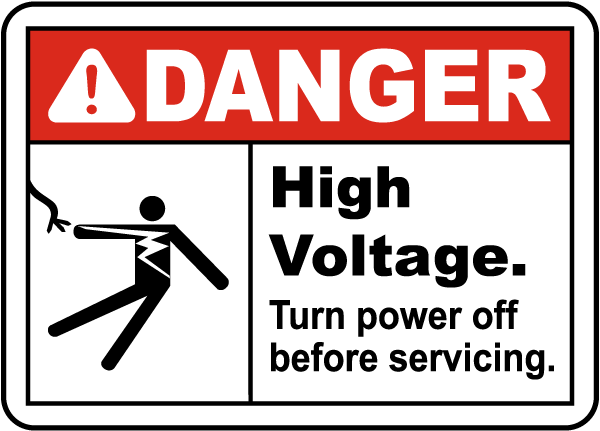 High Voltage Turn Off Power Sign