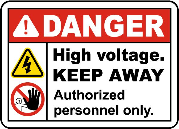 High Voltage Keep Away Label