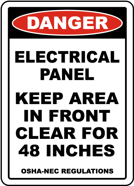 Danger Keep Area Clear For 48 Inches Floor Sign