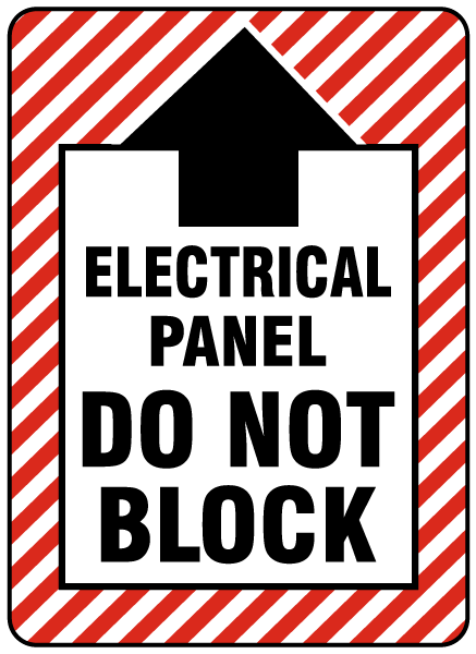 Electrical Panel Do Not Block Floor Label