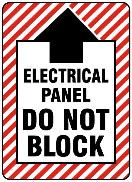 Electrical Panel Do Not Block Floor Label