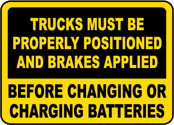Before Changing Batteries Sign