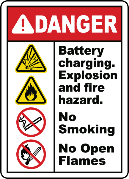 Explosion and Fire Hazard Sign
