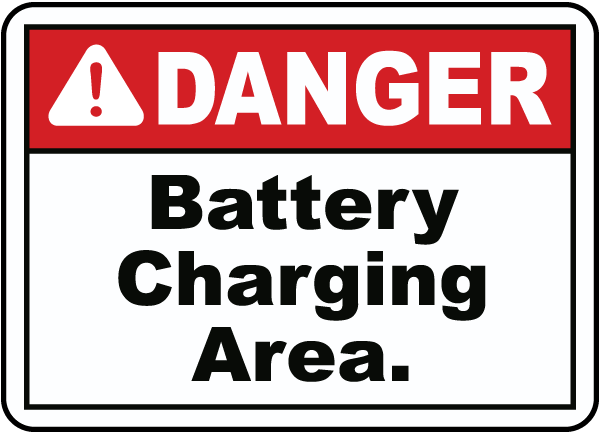 DANGER. Battery Charging Area.