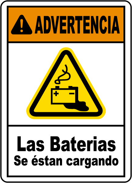 Advertencia las beterias se estan cargando