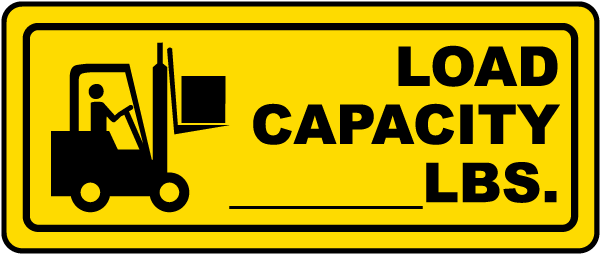 Forklift Load Capacity Label