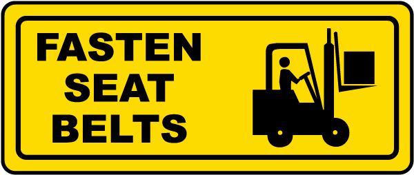 Fasten Seat Belts Label