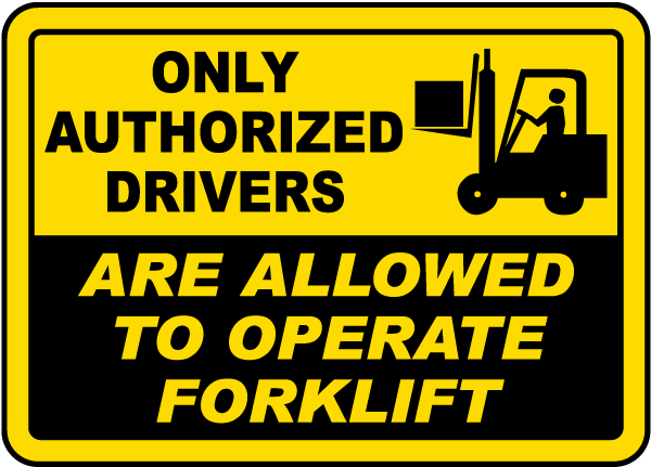 Only Authorized Drivers Sign