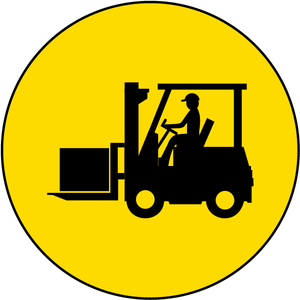 Forklift Floor Sign