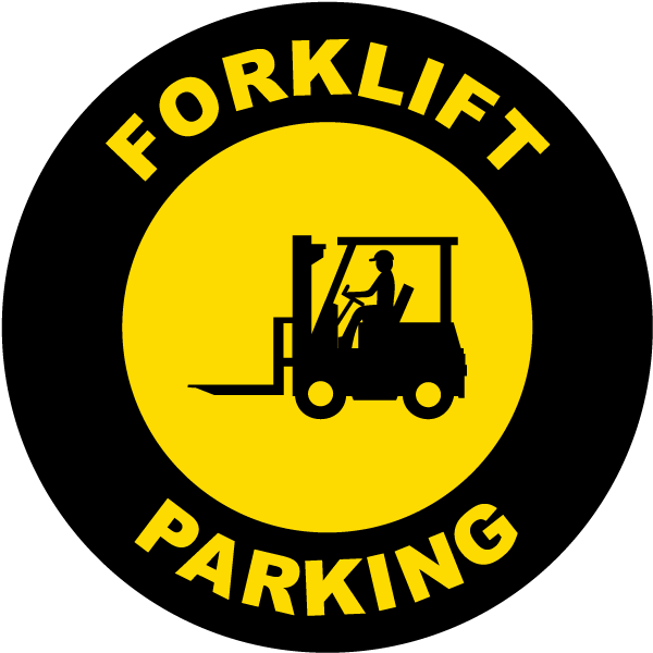 Forklift Parking Floor Sign
