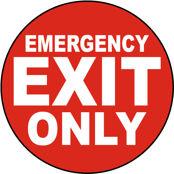 Emergency Exit Only Floor Marker