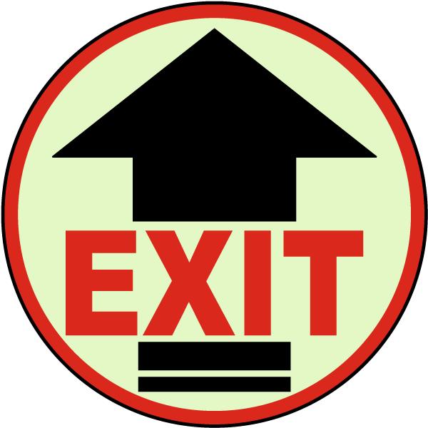 Exit Arrow Floor Sign