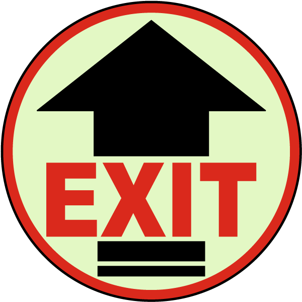 Exit Arrow Floor Sign