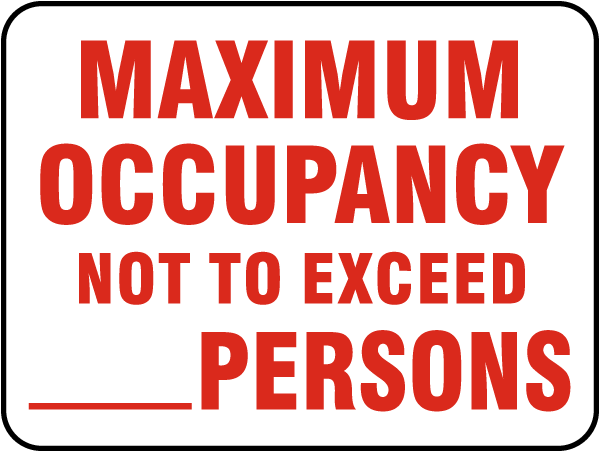 Maximum Occupancy Not to Exceed_PersonsSign