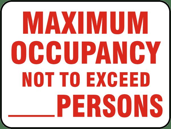 Maximum Occupancy Sign