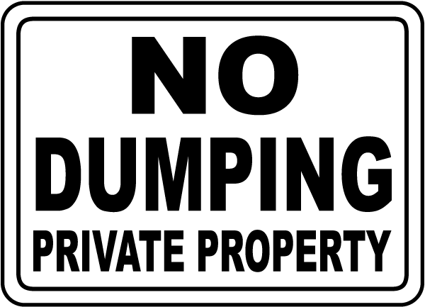 Dumping Trash On Private Property