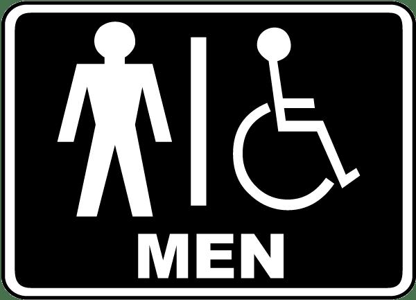 Men / Accessible Restroom Sign