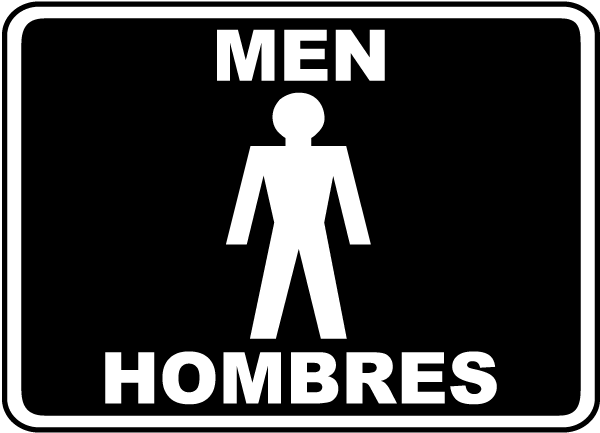 Bilingual Men Sign