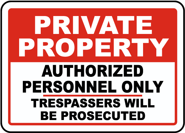 Authorized Personnel Only Sign
