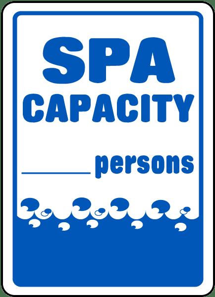 Spa Capacity Sign