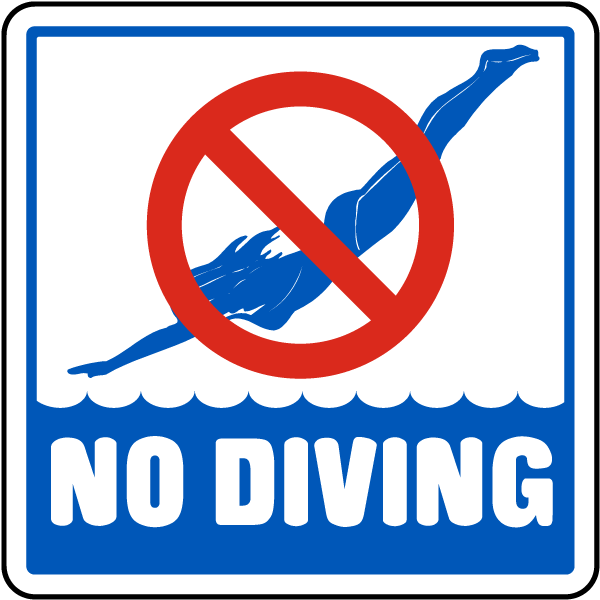 No Diving Sign F6909 By