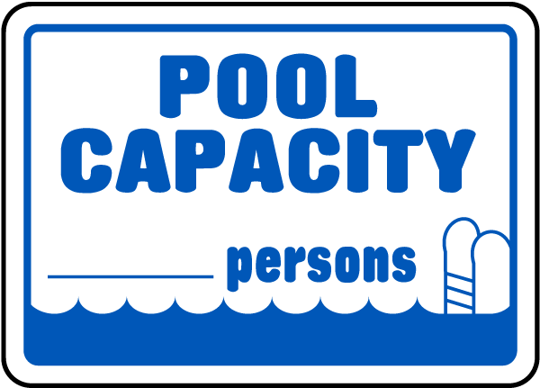 Pool Capacity Sign