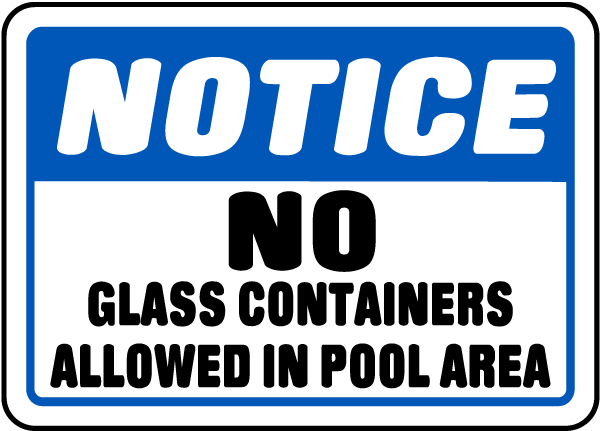 No Glass Containers Allowed Sign
