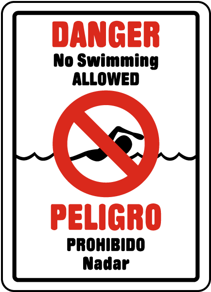 Bilinugal No Swimming Allowed Sign