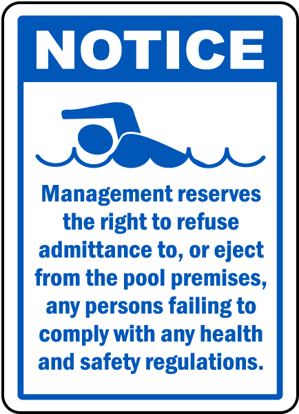 Management Reserves Right Sign