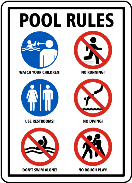Pool rules sign f6975 by for Pool design rules