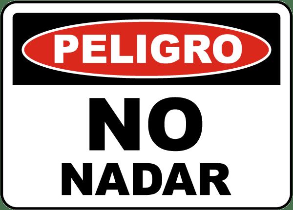 Spanish Danger No Swimming Sign