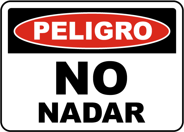 Spanish Danger No Swimming Sign