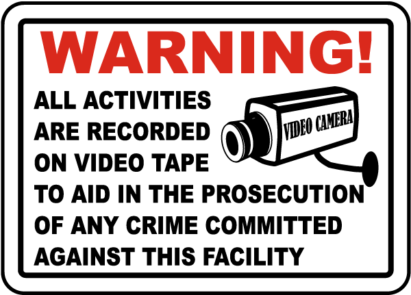 Activities Recorded on Video Tape Sticker