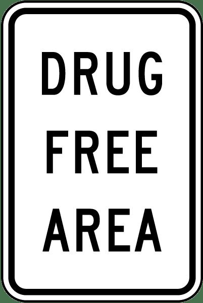 Drug Free Area Sign