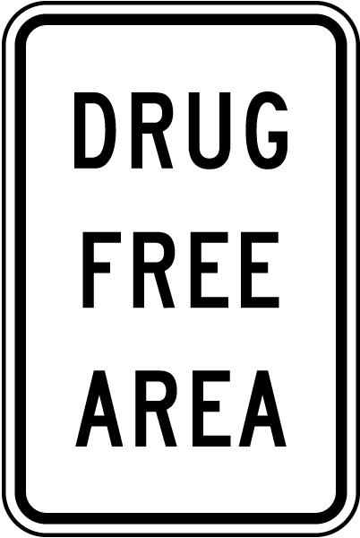 Drug Free Area Sign