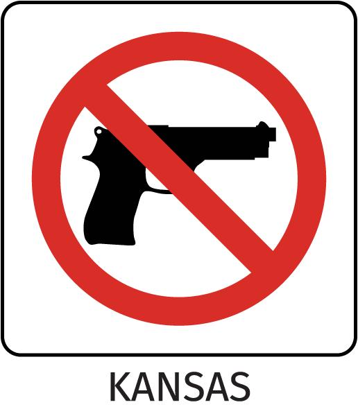 Kansas Firearms Prohibited Sign
