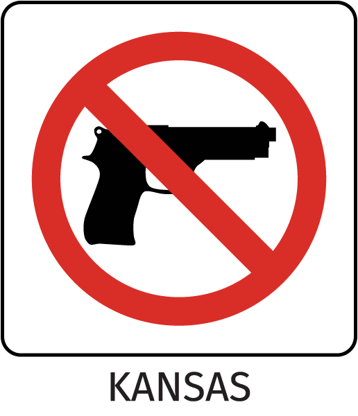 Kansas Firearms Prohibited Sign