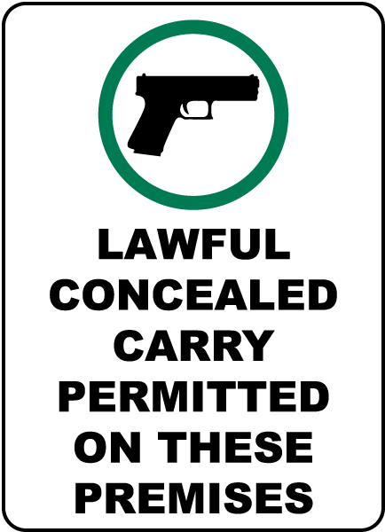 Concealed Carry Permitted on Premises Sign