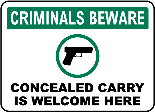 We Support Your Right Carry On Sign